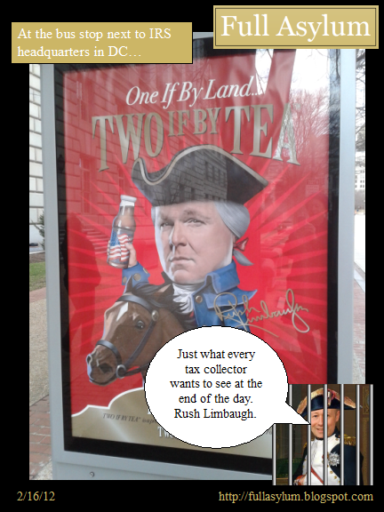 Rush Limbaugh Ad at IRS Bus Stop
