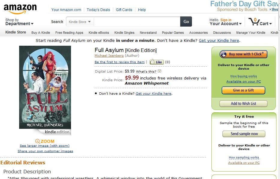 Full Asylum Now on Kindle