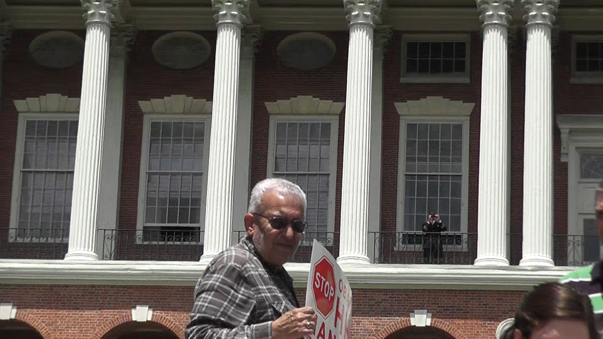 MA State House policeman spies on Stand up for Religious Freedom Rally
