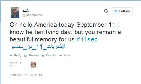 Oh hello America today September 11 I know he terrifying day, but you remain a beautiful memory for us #11sep