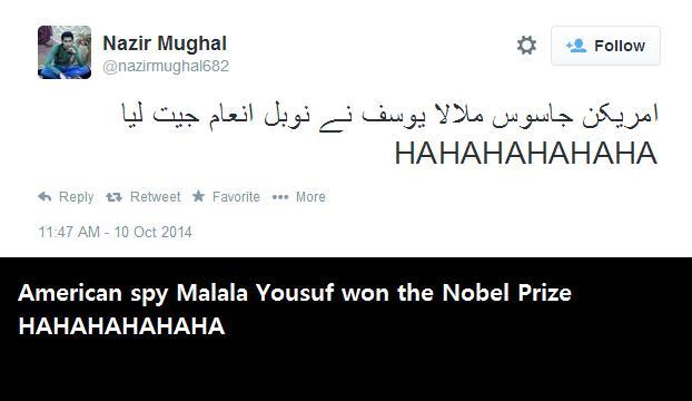 American spy Malala Yousuf won the Nobel Prize HAHAHAHAHAHA